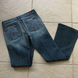 7 seven for all mankind jeans A glitter pocket 28